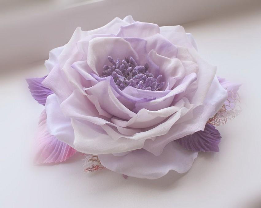 Цветы из ткани в вазу своими руками